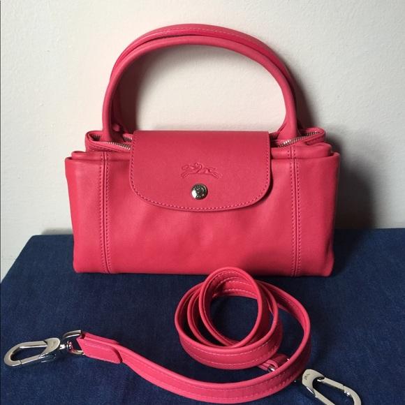 Longchamp Le Pliage Cuir Medium Leather Bag